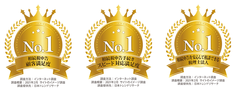 日本クレアス税理士法人が「相続税申告 顧客満足度」など3項目で第1位を獲得!